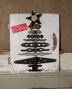 DIY Christmas Tree from Reclaimed Hardware, Petticoat Junktion