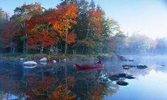 Autumn Mersey Rivernear Kejimkujik national park, Nova Scotia, Canada