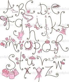 letter doodling