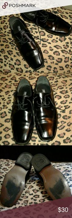 Men's leather  Stacy Adams dress shoes Pre owned good condition size 10.5 Men's  black leather Stacy Adams dress shoes Stacy Adams Shoes Loafers & Slip-Ons