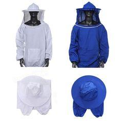 Protettivo Apicoltore Apicoltura Giacca Velo Vestito Con Cappello Beekeeping