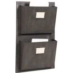 Keep files and folders sorted in your home office with this metal wall rack, or hang it in the entryway to catch mail and magazines. Product: Wall rackCon...