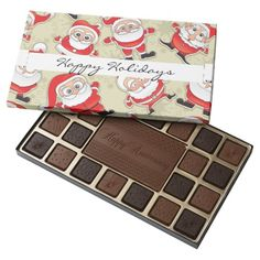 Christmas Chocolates. Santa Claus Holiday Treats 45 Piece Assorted Chocolate Box - #candy #chocolate #christmas #gifts