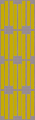 Chartreuse stripes fabric by Fable Design