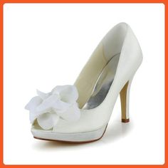 c7a9ccce3c4f Jia Jia Wedding 37012H Prom Party Dance Bridal Shoes Wommen Pumps White