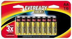 Eveready Gold A91BP-16H AA Battery Is the answer to a growing need for a high rate source of portable power, Eveready technology has developed the Eveready alkaline battery. The Eveready alkaline system is designed to provide an economical power source for today's devices that require heavy current or continuous use.