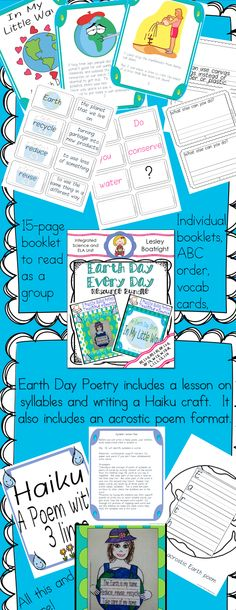 This bundle contains everything you need to integrate Earth Day into your curriculum. In this download, you get the following two resources: * An Earth Day Story: In My Little Way  * Earth Day Poetry: A Language Arts Integrated Craftivity $ #earthday #ELA #poetry