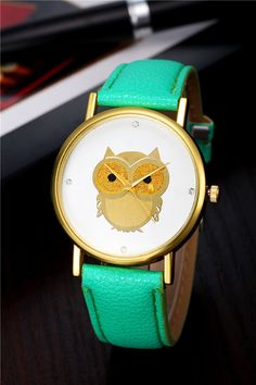 f36a81a5299 ... Picture about New Women Fashion Quartz Watch Gold Case Owl Pattern  Wristwatch Leather Casual Watch Analog Rhinestone Clock Relogio Hot Sale  Picture in ...