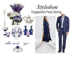 """""""Styledom Event Styling"""" by khouryolivia on Polyvore featuring TFNC, Armani Collezioni, Roberto Cavalli, Nearly Natural, Waterford, Puiforcat, Cultural Intrigue, Table Art and country"""