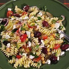 Pasta Salad With Chickpeas And Olives (via www.foodily.com/r/hH7LndsMu)