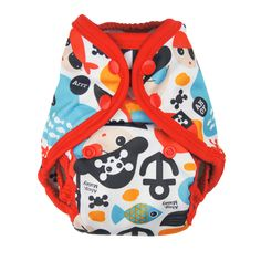 Cap'n Jack (Retired ) - Tuck-Wrap- Go Cover Nuggles Design - Cloth Diaper Covers - Our 2-size adjustable system is easy and economical. You don't have to buy multiple sizes, and you don't have to contend with the poor fit of a one-size.