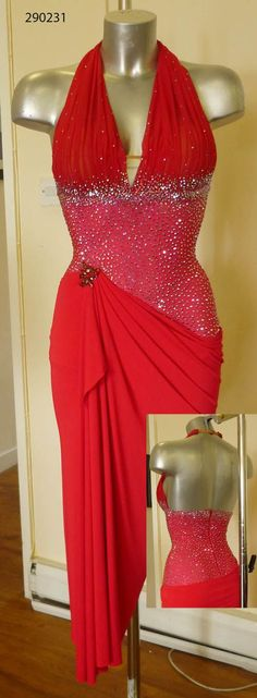 Red week: another amazing Dsi London red latin dress =)