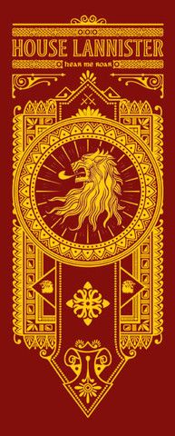 House Lannister Banner  t-shirt from popuptee.com on sale until 6.24.13