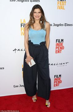Fast recovery: Lake Bell, showed off her post pregnancy body as she was seen at the Shot Caller premiere in Los Angeles on Saturday Post Pregnancy Body, Post Baby Body, Lake Bell, Girls Heels, Wolford, Red Carpet Dresses, Denim Fashion, Front Row, Recovery