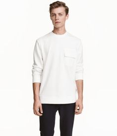 Sweatshirt | White | Men | H&M US