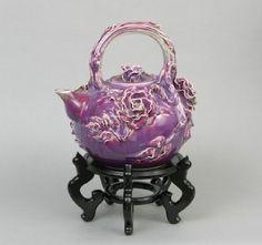 Large Oriental Teapot with Glazed Porcelain | eBay