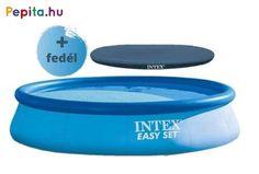 Fürdőzz egész nyáron az Intex Easy Set® felfújható medencében, amelyet könnyű felállítani és tárolni. Ez a medence olyan hellyé varázsolja a kertet, ahol a család pihenhet és játszhat. 10 perc alatt felállítható, egyszerűen sima talajon. Fújd fel, töltsd fel vízzel, és élvezzétek a szórakozást.    Jellemzői:  - Erősített PVC medencetest  - 2 m3/h papírszűrős vízforgató  - Vízzel megtöltve veszi fel formáját  - Kapacitása: 7290 liter  - Mérete: 396 x 84 cm    Tartalma:  - Vízforgató…