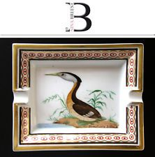 Ashtray Hermes Limoges Porcelain Ash Tray with Heron