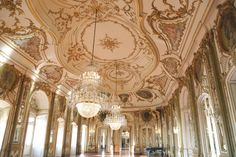 Queluz palace in Portugal - Throne hall