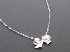 Ribbon Sterling Silver Necklace-simple everyday jewelry- Bridesmaid,Wife, Girlfriend, Mothers Gift Idea on Etsy, $27.31 CAD