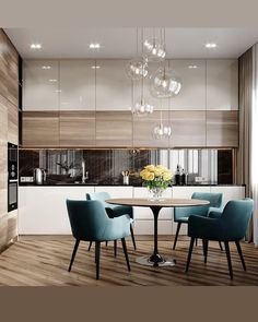 38 Elegant and Luxurious Kitchen Design Ideas - Top Five Suggestions for Designing a Luxury Kitchen Kitchen Room Design, Kitchen Cabinet Colors, Modern Kitchen Design, Living Room Kitchen, Dining Room Design, Home Decor Kitchen, Interior Design Kitchen, Diy Kitchen, Kitchen Ideas