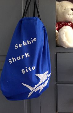 Personalised Swimming Kit Bags Double Sided by FarrahandLouise
