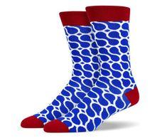Blue Red White Lasso Loop socks