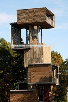 Timber Buildings, Small Buildings, Bamboo Architecture, Architecture Details, Ideas Cabaña, Architecture Concept Drawings, Tower Building, Tower Design, Tower House