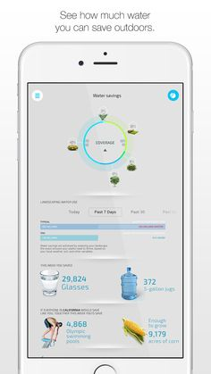 Are you curious how much water you could be saving outdoors? The Unity app from ETwater can tell you precisely how much you can be saving through real world examples. From glasses of water to Olympic swimming pools. Available for free at etwater.com/mobile