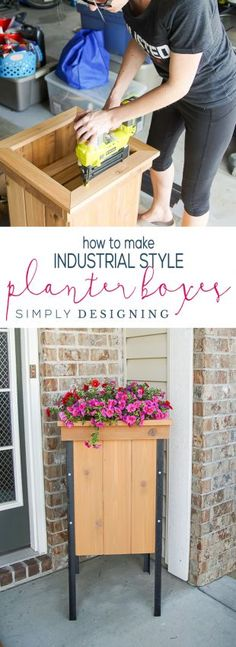 The best DIY projects & DIY ideas and tutorials: sewing, paper craft, DIY. Best Diy Crafts Ideas For Your Home How to Make Industrial Planter Boxes in just a few steps -Read Backyard Projects, Cool Diy Projects, Outdoor Projects, Garden Projects, Home Projects, Outdoor Ideas, Backyard Ideas, Project Ideas, Craft Projects