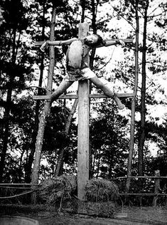 The last official government crucifixion, Japan 1894 - This photograph, taken by Felix Beato at the execution grounds near Yokohama, was part of his successful series of documenting Japanese culture. Beheadings were a humane form of execution, as death was instantaneous, while crucifixion was meant to be a slow and torturous death. This man had stolen from a nobleman's son.