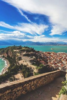 GREECE – Nafplio, Peloponnese. The view is from the steps leading up to the Bastion Agios Andreas.