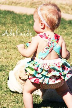 Vintage Parker Romper Adelaide Original by AdelaidesBoutiqueLLC, $40.00 .... i need someone to have a baby girl so i can buy cute things like this <3