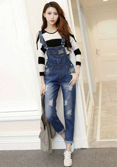Buy Denim Pinafore Overall Pants | mysallyfashion.com Malaysia