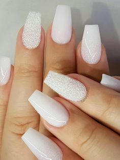 Minda's Ideas: Best Nails Style Suggestions How to Master the Casual Style 2019 - fall nails – nails 2000 – toenail – nails – nail polish What nails your f - Summer Acrylic Nails, Best Acrylic Nails, Acrylic Nail Designs, White Nail Designs, Best Nails, Best Nail Polish, Nails 2000, Nagellack Design, White Coffin Nails
