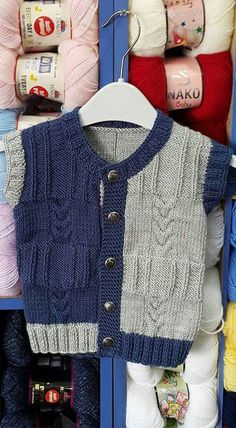 Color patchwork baby jacket inspiration [] # # # Source by Jacket Baby Knitting Patterns, Baby Cardigan Knitting Pattern, Knitting For Kids, Knitting Designs, Baby Patterns, Hand Knitting, Knit Baby Sweaters, Knitted Baby Clothes, Baby Pullover Muster