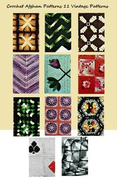 Crochet Afghan Patterns 11 Vintage Afghans to Crochet Patterns (Amazon Link)