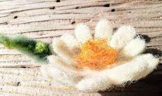 Brooch or hair clip. Hand made. Flower Brooch, Brooches, Hair Clips, Flora, Wax, Felt, Gifts, Handmade, Etsy