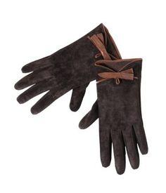 Wildleder-Handschuhe kastanienbraun - Promod