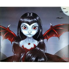 Red Winged Fairy Art Tile Jasmine Becket Griffith 10x8 in Fairie Fantasy m268