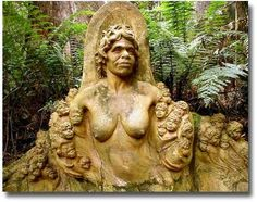 Mother Earth at William Ricketts Sanctuary Mont Dandenong Melbourne Australia compliments http://www.flickr.com/photos/alistercoyne/3152776727/