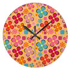 #Floral #joy in #June Large #Clock #home #homedecor #room #zazzle #summer