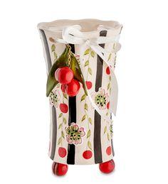 """Ваза для цветов из фарфора """"Вишенки"""" BS-44 / Коллекция Blue Sky / Вазы, кашпо, цветы / Каталог / R-Gifts – интернет магазин подарков и сувениров.  #decor #gift #giftidea #pavone #porcelaine #vase #vases #ваза #вазадляцветов #вазы #подарок #фарфор"""