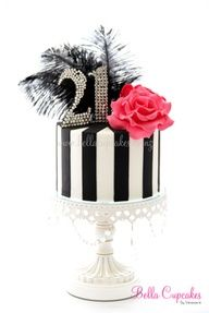classy 21 birthday cake feathers - Google Search
