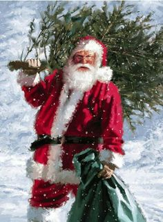 Santa Claus. This looks like maybe Daniel F. Gerhartz's work.