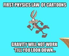 First Law of Physics of Cartoons