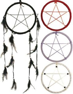 Pentagram dreamcatcher; I have one very much like these over my fireplace mantel.