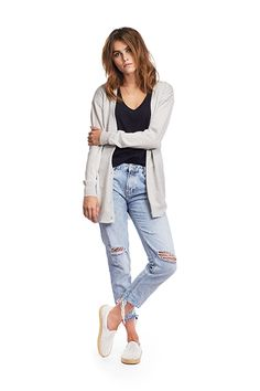 A casual longer summer cardigan from Merino wool with great heat adjusting capabilities. Long Summer Cardigan, Merino Wool, Mom Jeans, Spring, Casual, Pants, Women, Fashion, Trouser Pants