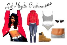 """""""Last minute Aaliyah Halloween Costume"""" by ciany07 ❤ liked on Polyvore featuring Calvin Klein Underwear, Vetements, Dolce&Gabbana, Timberland, Paul Smith, StreetStyle, Halloween, fashionista, halloweencostume and Halloweenparty"""