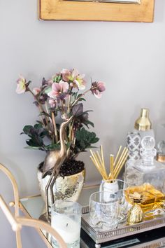 Bar cart styling for